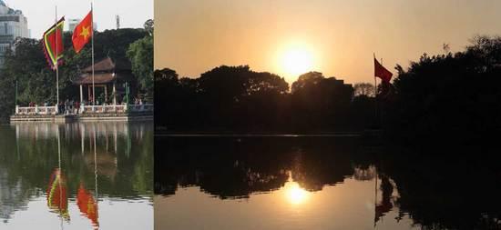 150117ホアンキエム湖の夕陽.jpg